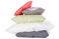 Stack of pillows a different isolated on a white background Stock Images