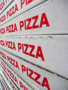 Stack of pizza boxes Stock Photography
