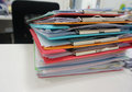 Stack of plastic clipboard and file document