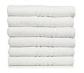 Stack of plush hotel towels Royalty Free Stock Photo