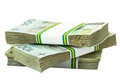 Stack of polish zloty banknotes Royalty Free Stock Photography