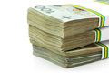 Stack of polish zloty banknotes Royalty Free Stock Photo