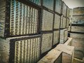 Stack of Railroad Ties Royalty Free Stock Photo