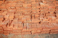 Stack of raw bricks image Royalty Free Stock Images