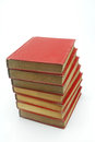 Stack of red book Royalty Free Stock Photography