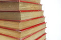 Stack of red book Royalty Free Stock Photo