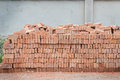 Stack of red brick background Stock Photography
