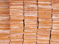 Stack of red brick for construction Royalty Free Stock Photo