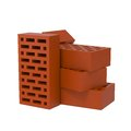 Stack of Red Bricks. Stock Image