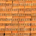 Stack red bricks Royalty Free Stock Photography