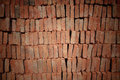 Stack of red bricks pattern Stock Image
