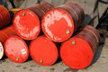 Stack of red drums Stock Photos