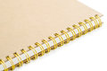 Stack of ring binder book or brown notebook. Royalty Free Stock Photo