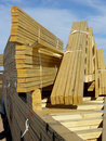 Stack of Roof Trusses Royalty Free Stock Photos