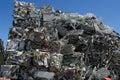 Stack scrap metal Royalty Free Stock Photo