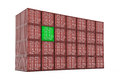 Stack of shipcontainers Royalty Free Stock Images