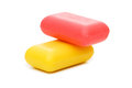 Stack of soap isolated Royalty Free Stock Photo