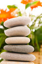 Stack of spa pebbles Royalty Free Stock Images