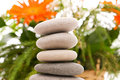 Stack of spa pebbles Stock Photography