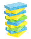 Stack Of Sponges Stock Image