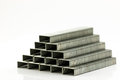 Stack of Staples Royalty Free Stock Photo