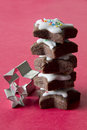 Stack of Star Cookies with Cookies Cutters Royalty Free Stock Photo