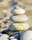 Stack of stones on the beach Stock Images