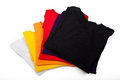 Stack of t-shirts Royalty Free Stock Photography