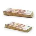 Stack of Thai 1000 Baht banknotes Royalty Free Stock Photo