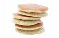 A Stack Of Three Plain Pancake...