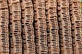 Stack of unused roof tiles and new Royalty Free Stock Image