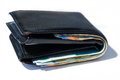 Stack of various of israeli shekel money bills in close black le Royalty Free Stock Photo