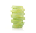 Stack of vegetable marrow slices Royalty Free Stock Photo