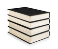 Stack of vintage black books Royalty Free Stock Photo