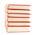 Stack of vintage books with red covers Royalty Free Stock Photo