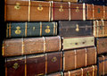 Stack of vintage suitcases large Royalty Free Stock Photo