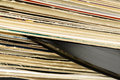 Stack of vinyl records in covers Royalty Free Stock Photo