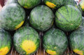 Stack Water Melons Royalty Free Stock Photo