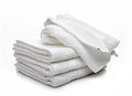 Stack Of White Hotel Towels