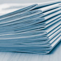 Stack of white journals Stock Photo
