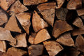 Stack of wood fire Stock Image