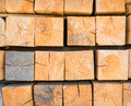 Stack wood industrial background from squared toned image Stock Photography