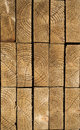 Stack of wood planks textures in lumber yard Stock Image