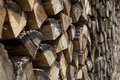 Stack of wood prepared for the cold winter Royalty Free Stock Photography