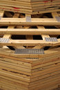 Stack of wood roof trusses for new home Royalty Free Stock Photo