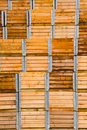 Stack of wooden packaging crates Royalty Free Stock Photo