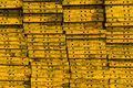 stock image of  Stack of the yellow concrete formwork steel.