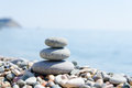 Stack of zen stones Royalty Free Stock Photography