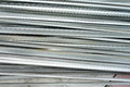 Stacked aluminum on the construction site Stock Photography