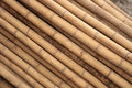 Stacked Bamboo Royalty Free Stock Photography